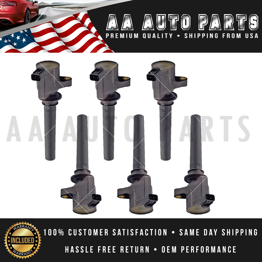 Details About Pack 6 Ignition Coil For 2003 2004 2005 2006 2007 2008 Ford Escape 3 0l V6 Fd502